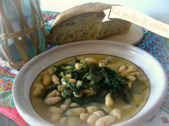 minestra di fagioli e cicoria