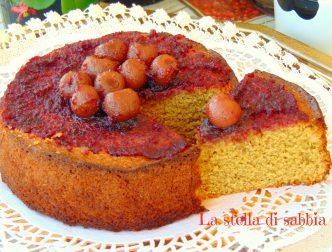 torta di mandorle e ciliegie