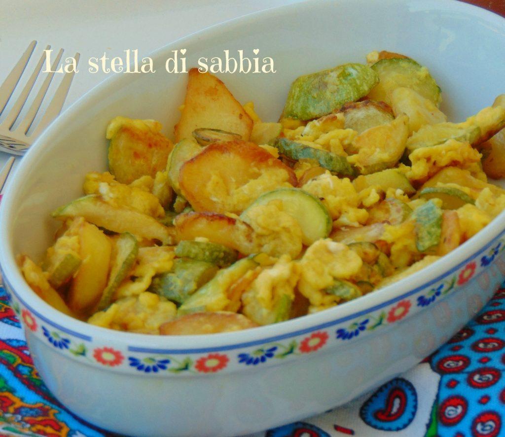 Stracciatella di zucchine e patate