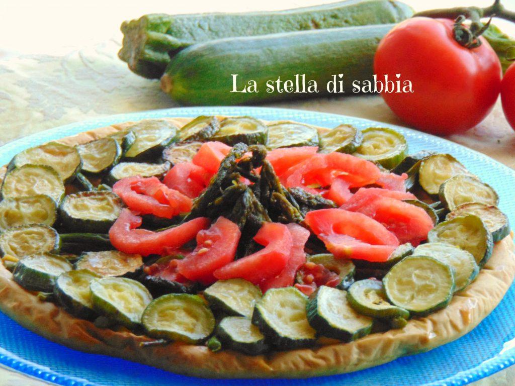 Crostata salata zucchine e pomodori